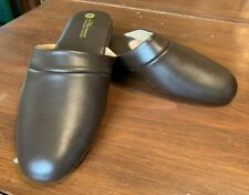 Men's Vermont Country Store Brown Leather Scuffs Slippers, 10 M