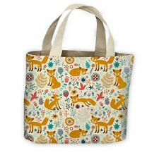 Woodland Fox All Over Tote Shopping Bag For Life