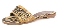 Roberto Cavalli Leopard Print Sandals Slides Slippers 2279 Size 37