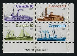 1976 Canada SC# 703a LR Inland Vessels Plate No.1 Black Color Shift M-NH # 2701d