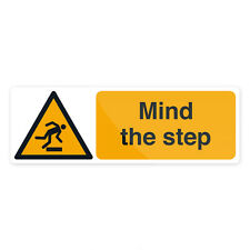 Mind The Step Sign 300 x 100mm Self-Adhesive  Signage Safety Signs