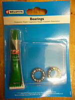 Weldtite bike/cycle caged 3/16 ball bearings & grease to fit FRONT wheel new