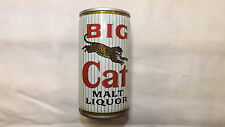 Vintage Big Cat Malt Liquor Beer Can Steel v