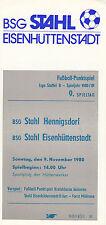 DDR-Liga 80/81 ZEPA acero Eisenhüttenstadt-BSG acero hennigsdorf 09.11.1980