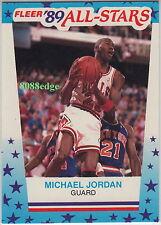 1989-90 FLEER NBA BASKETBALL STICKER CARD: MICHAEL JORDAN #3 NBA 14x ALL-STAR