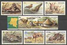 Zaire 1984 Lions/Eagles/Rhino/Cats/Birds 8v set n21459