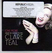 (BX977) Clare Teal, One More (Baby Be Good To Me) - 2011 DJ CD