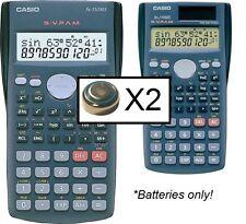2 Batteries for Casio fx-83ms fx-85ms fx-270ms fx-350ms fx-300ms calculator