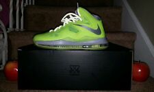NIKE LEBRON X VOLT Playoff Christmas Elite Denim Hero Jade South Beach US 8