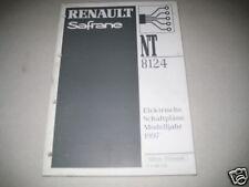 Anleitungen & Handbücher Werkstatthandbuch Renault Safrane Elektrische Schaltpläne Elektrik Stand 2000!