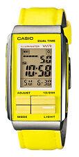 Casio LA201WBL-9A Women's Futurist Leather Band Yellow Alarm Chronograph Watch