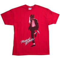 Michael Jackson Dancing Fedora Pic Red T Shirt New Official Licensed