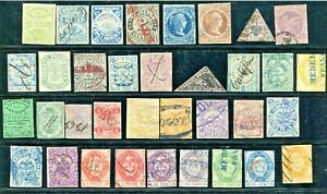 COLOMBIA  -  Selection classic material, Canc./mint no gum