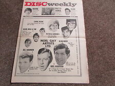 DISC Weekly Music Magazine 27/03/65   Great Period Pics and Articles - SEE PICS
