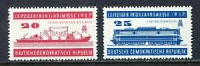 31257) DDR 1957 MNH** Leipzig Fair - Train Ship 2v.