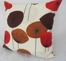 Iconic 50's Retro Dandelion Clocks  Red/Tan/Brown Cushion Cover ~ 45cm