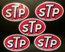 5 NOS Large Vintage STP NASCAR Richard Petty 43 Racing Studebaker Decal Sticker