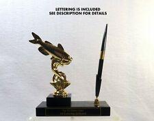 Metal Cat Fish Trophy Pen Set Fishing Award Sport Fishing Trophy Cat Fish