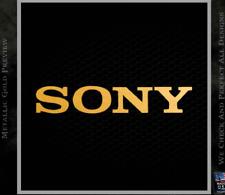 Los televisores adhesivo con el logotipo de oro 1x Sony Play Station 30 Mm x 5 MM APROX