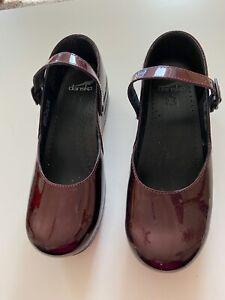 Dansko Marcelle Mary Jane Burgundy Patent Leather