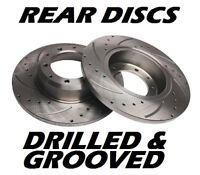 Drilled & Grooved Brake Discs Seat Leon Solid Rear 2000-2005