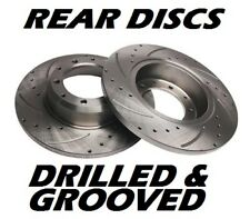 ROVER & MG 25 200 400 45 COUPE MGZR MGZS Drilled & Grooved Brake Discs REAR