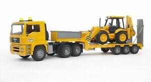 Bruder - MAN TGA Low Loader Truck with JCB Backhoe Loader 02776