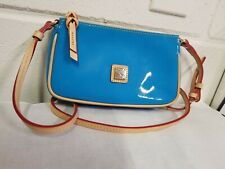 DOONEY & BOURKE BLUE PATENT LEATHER Small CROSSBODY PURSE ,SO CUTE