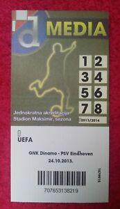 PRESS TICKET (match without spectators) GNK DINAMO VS PSV EINDHOVEN