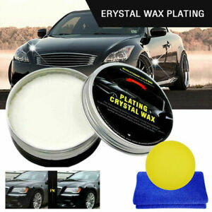 200g Car Crystal Plating Coating Wax Set Hard Glossy Carnauba Paint Care Kit S25
