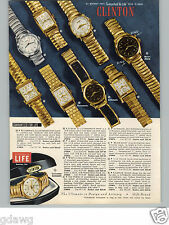 1955 PAPER AD 4 PG COLOR Wrist Watch Calendar Automatic Self Winding 21 Jewel