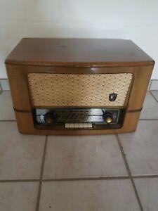 Braun Nostalgieanlage Radio + Plattenspieler  555 UKW Phone Alt