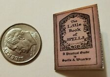 Miniature dollhouse Halloween witch spell book Barbie 1/12 Scale   Haunted NB