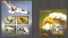 Vögel Greifvögel Adler Eule Niger 3194/97 + Block 383 postfrisch