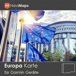 Topo Karte EUROPA Deutschland Garmin Oregon 300 400 450 500 550 600 650 Edge 800
