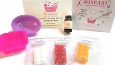 Melt & Pour SOAP STARTER KIT easy SLS / SLES /Palm FREE All you need! Gift Boxed