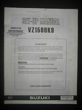 SUZUKI VZ1500K9 Set Up Manual Set-Up VZ 1500 K9 99505-01089-01E Motorcycle