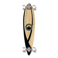 Yocaher Pintail Crest Onyx Longboard Complete