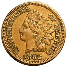 1882 Indian Head Penny, Very Nice Features 1c Copper Collectible Cent No Res!