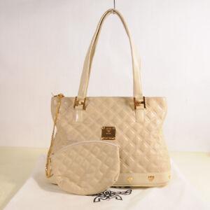 AUTHENTIC MCM Quilt Leather Shoulder Bag + Pouch + Dust Bag