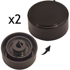 HOTPOINT-ARISTON Genuine Ceramic Induction Hob Switch Temperature Knob Black x 2