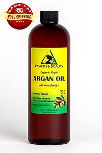 ARGAN OIL UNREFINED ORGANIC EXTRA VIRGIN MOROCCAN COLD PRESSED RAW 16 OZ