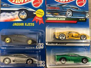 Hot Wheels Jaguar  Collectible Lot Of 4 Classic Hot Wheels
