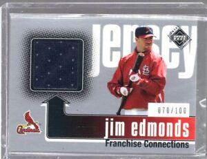 2002 Upper Deck Franchise Connections Jim Edmonds Jsy #368 (070/100)