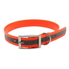 Pet Dog Collar TPU+Nylon Reflective Night Safety Collars Waterproof Collar