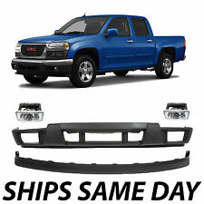 NEW Lower Front Bumper Valance Kit With Fog Lights For 2004-2012 GMC Canyon