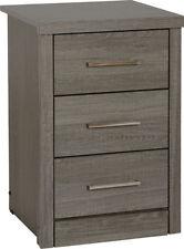 Lisbon Dark Wood Bedroom Furniture Wardrobes Chests Dressing Table Mirror 3 Drawer Bedside Chest