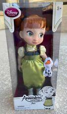 "Disney Animators' Collection Frozen Princess Anna Toddler Doll 16"" & Mini Olaf"