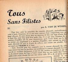 BRICOLAGE ET MAISON 8 JUILLET 1950 RARISSIME ILLUSTRATIONS  DE M.TILLIEUX