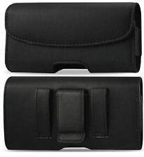 Motorola Moto E5 Play leather belt clip phone case holder pouch loop h